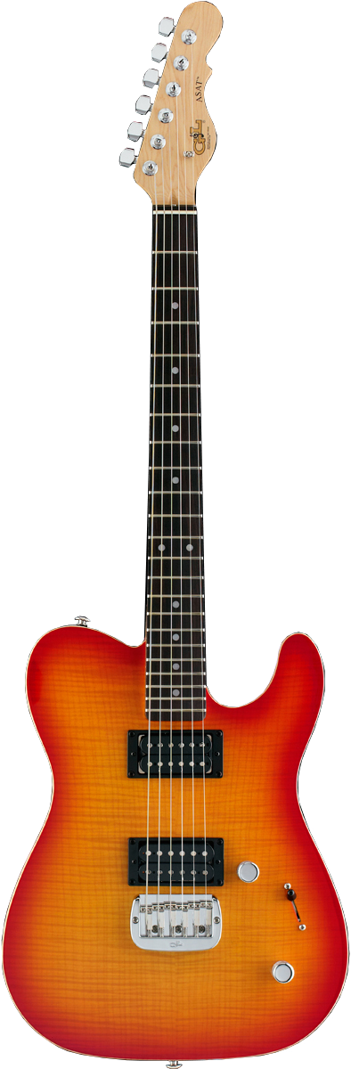 ASAT Deluxe shown in Cherry Burst
