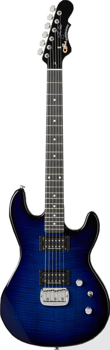 Superhawk Deluxe Jerry Cantrell Signature Model shown in Blueburst