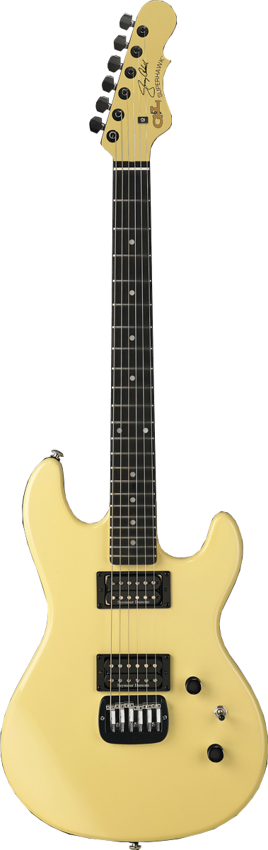 Superhawk Jerry Cantrell Signature Model shown in Ivory